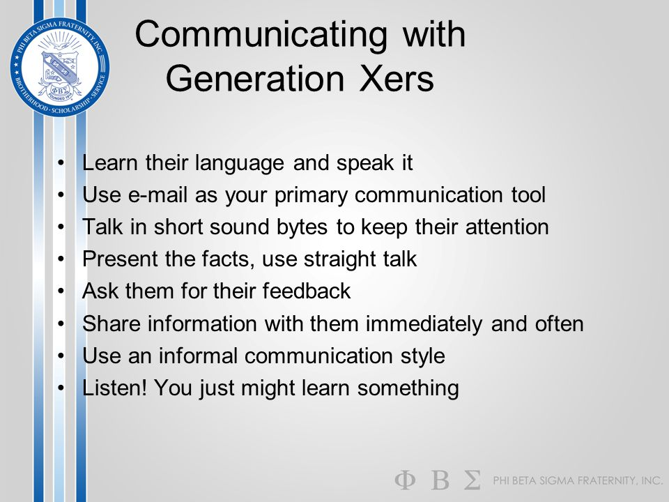 Communicating with Generation Xers