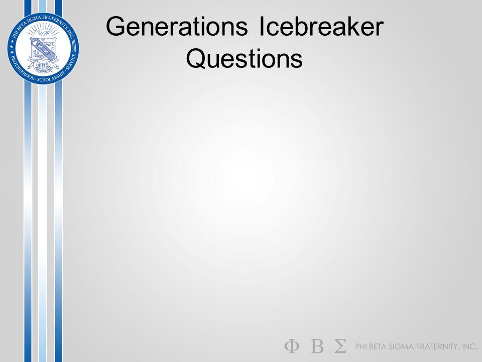 Generations Icebreaker Questions