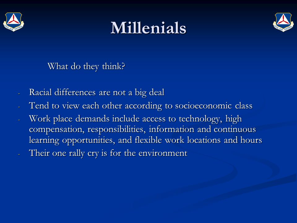 Millenials What do they think Racial differences are not a big deal