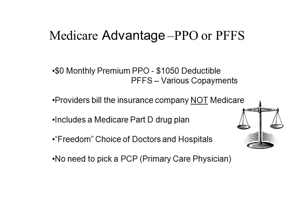 Medicare Advantage –PPO or PFFS