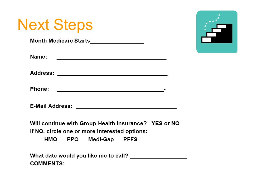 Next Steps Month Medicare Starts_________________