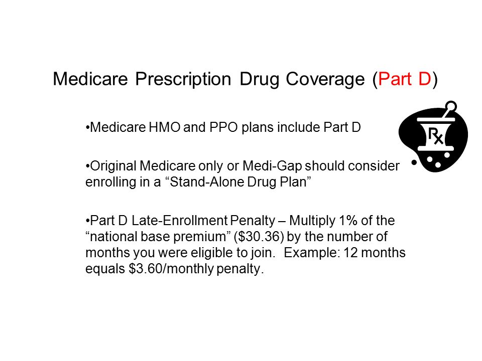 Medicare Prescription Drug Coverage (Part D)