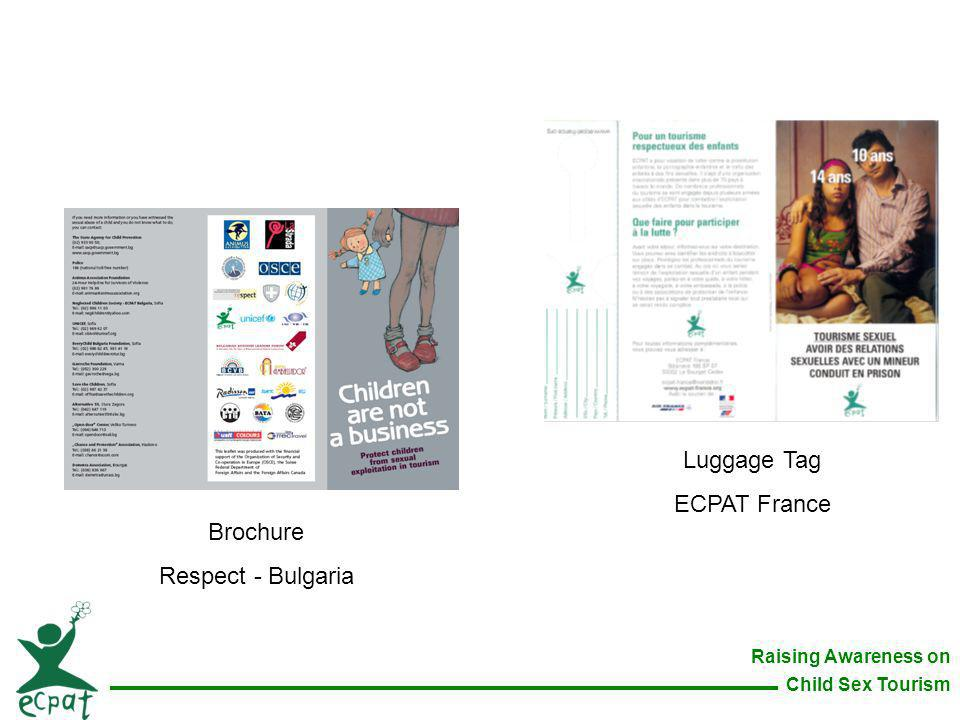 Luggage Tag ECPAT France Brochure Respect - Bulgaria