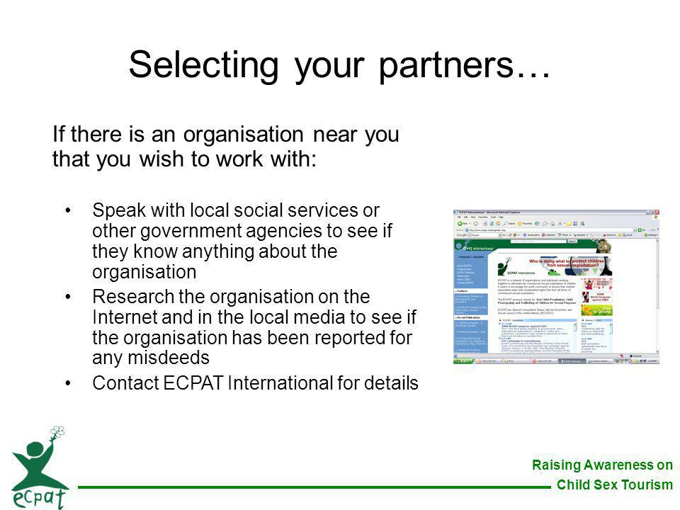 Selecting your partners…
