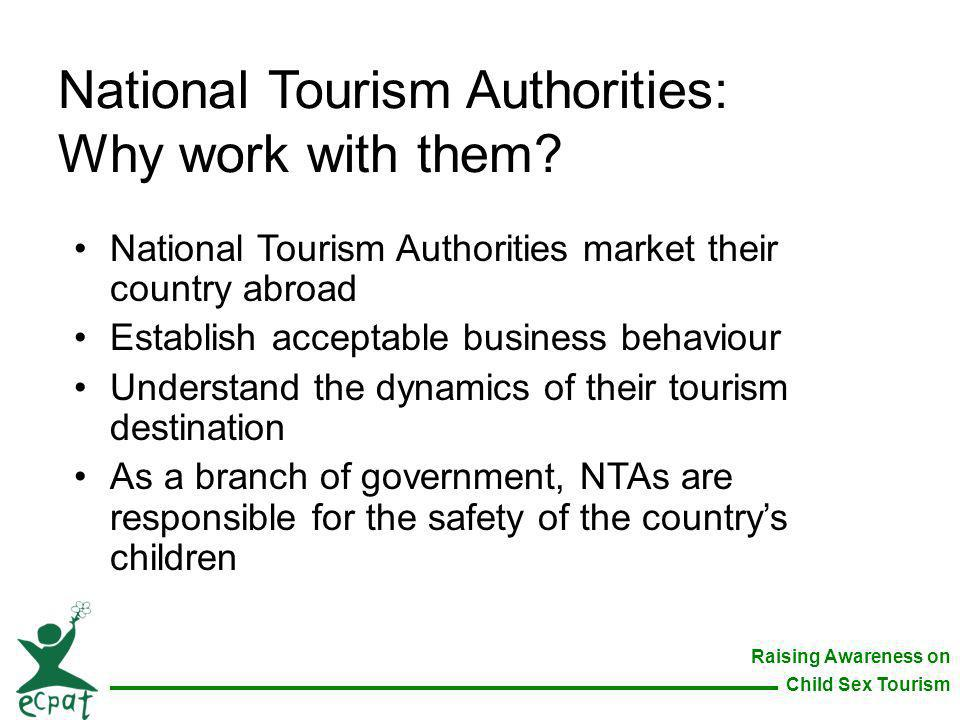 National Tourism Authorities: Why work with them