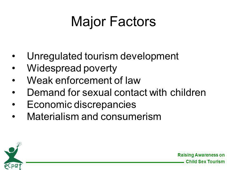 Major Factors Unregulated tourism development Widespread poverty