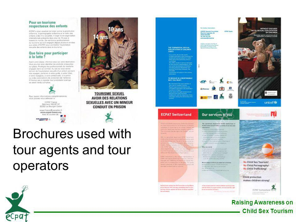 Brochures used with tour agents and tour operators