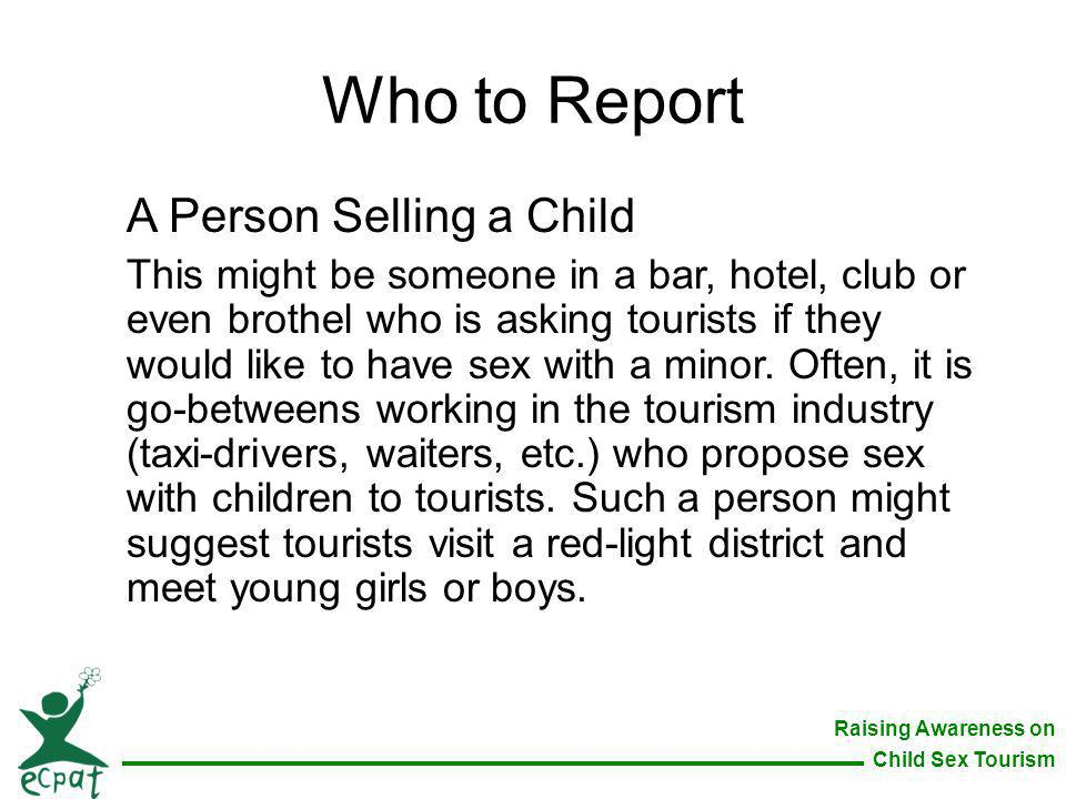 Who to Report A Person Selling a Child