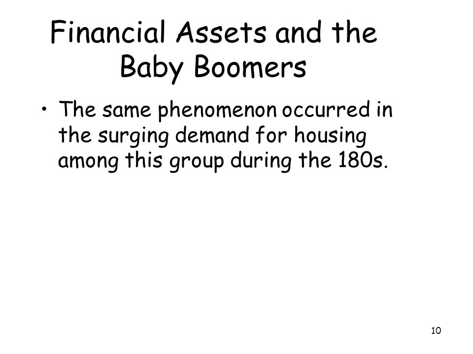 Financial Assets and the Baby Boomers