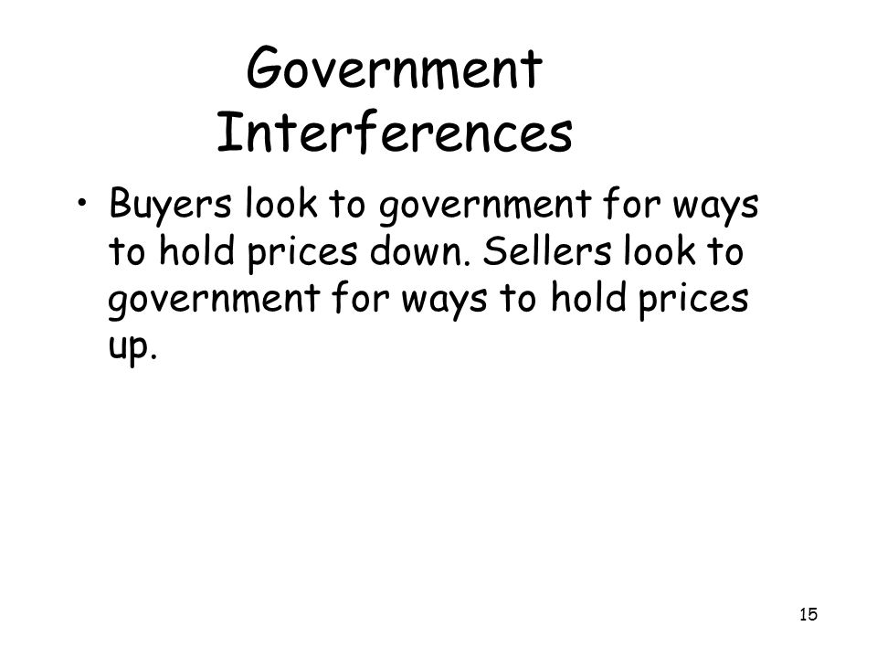 Government Interferences