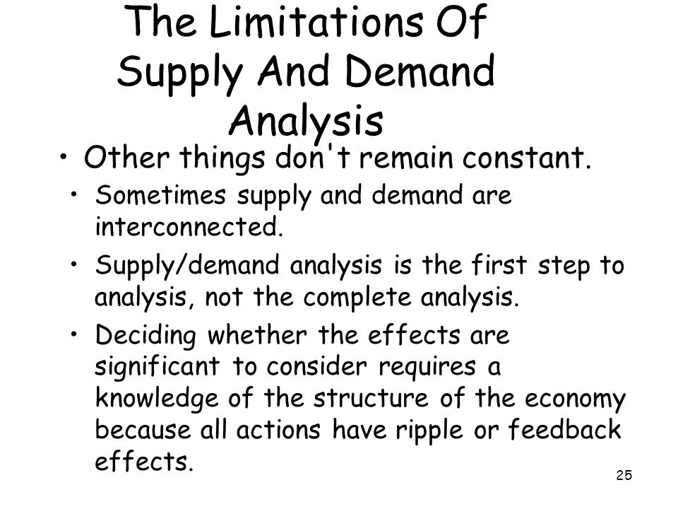 The Limitations Of Supply And Demand Analysis