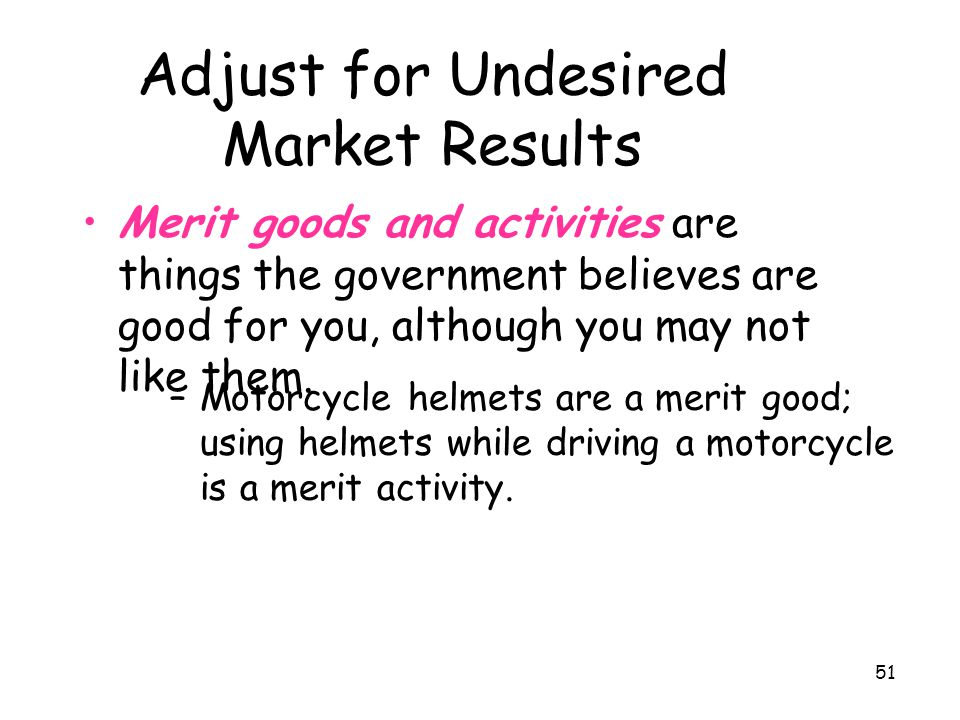 Adjust for Undesired Market Results