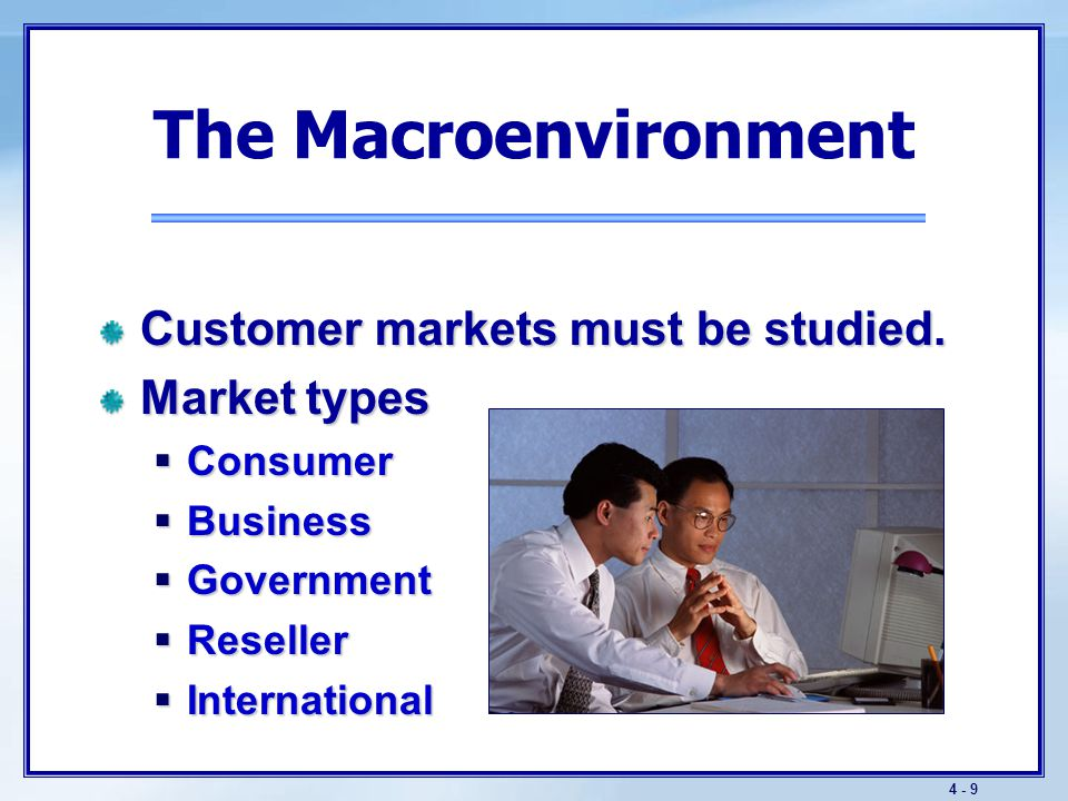The Macroenvironment Successful companies provide better customer value than the competition.