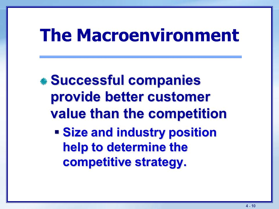 The Macroenvironment Various publics must also be considered.