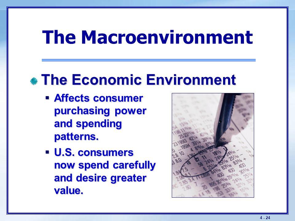 The Macroenvironment The Economic Environment