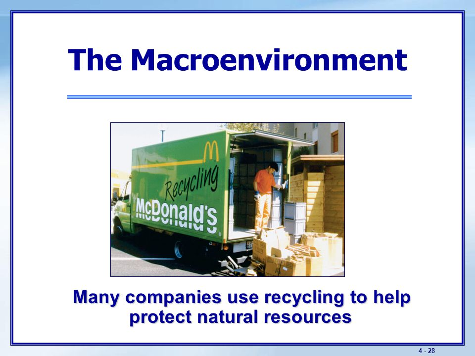 The Macroenvironment Key Technological Trends
