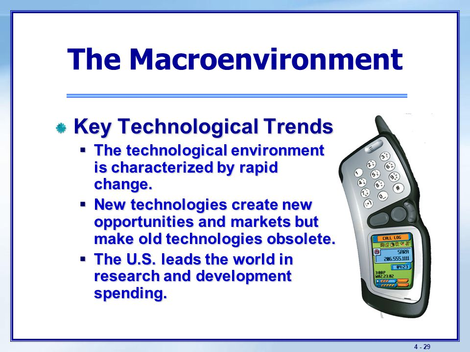 The Macroenvironment The Political Environment