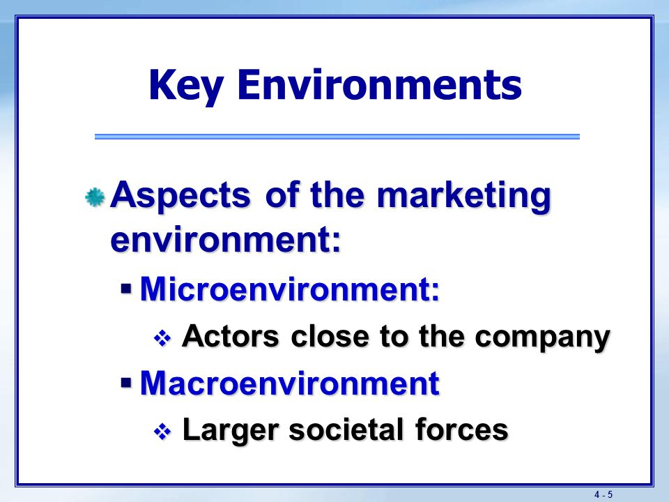 The Microenvironment Departments within the company impact marketing planning.