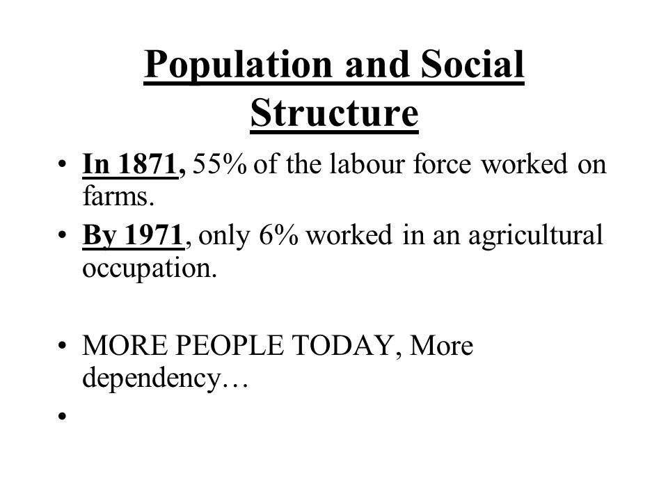 Population and Social Structure