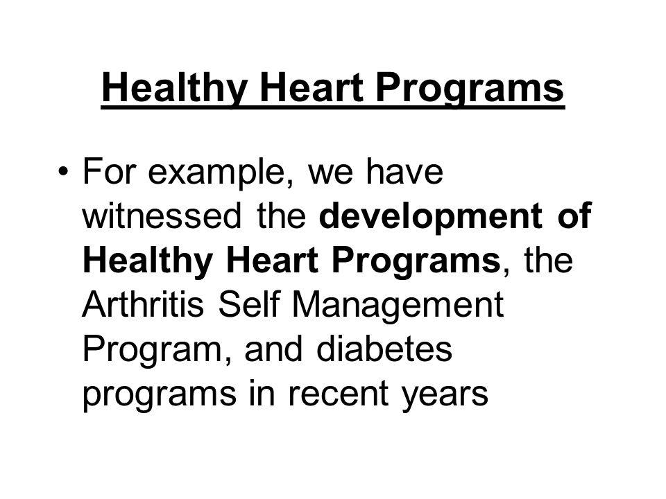 Healthy Heart Programs