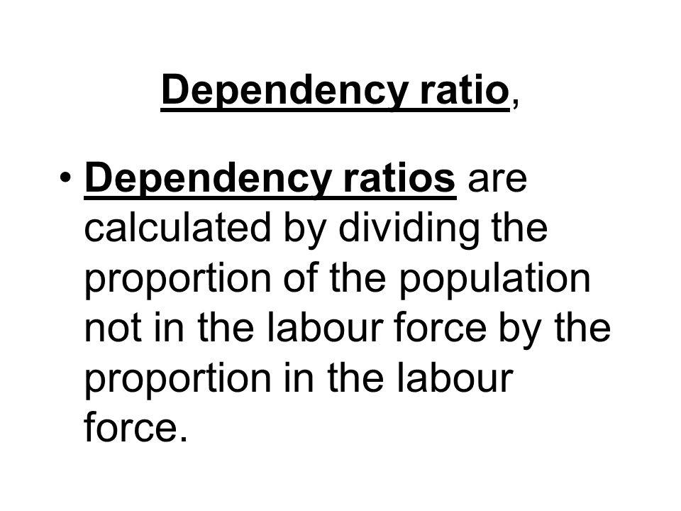 Dependency ratio,