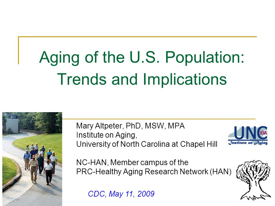 Aging of the U.S. Population: Trends and Implications