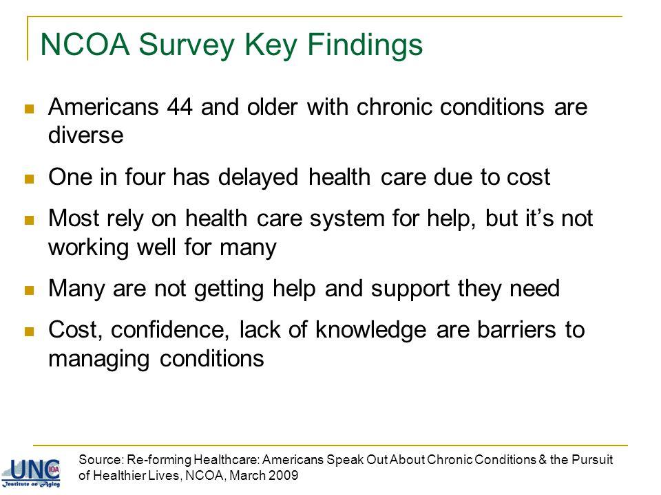 NCOA Survey Key Findings