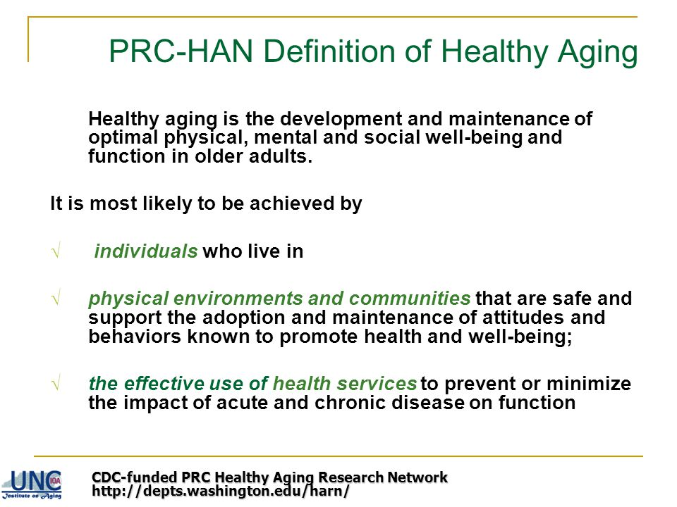 PRC-HAN Definition of Healthy Aging