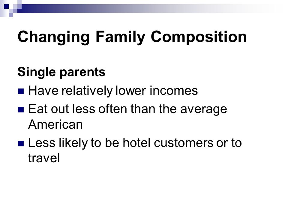 Changing Family Composition
