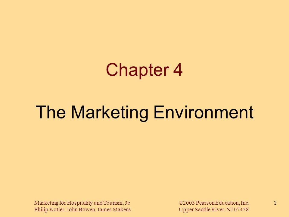 Chapter 4 The Marketing Environment
