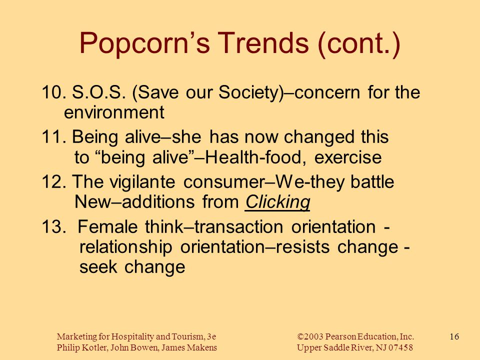 Popcorn's Trends (cont.)
