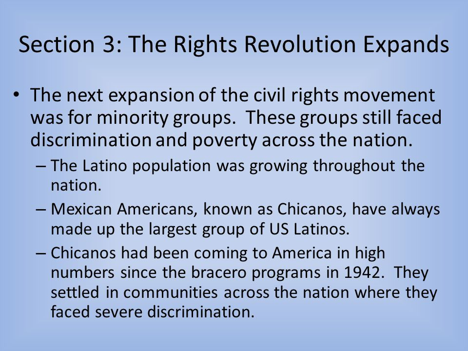 Section 3: The Rights Revolution Expands