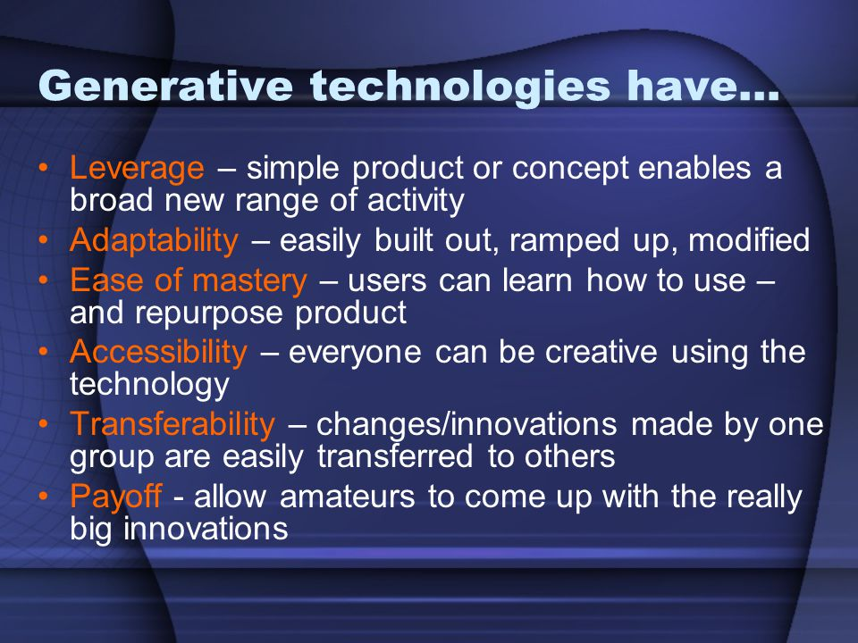 Generative technologies have…