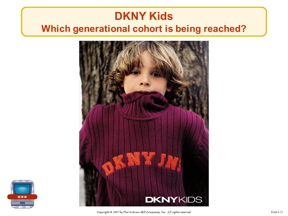 DKNY Kids Which generational cohort is being reached