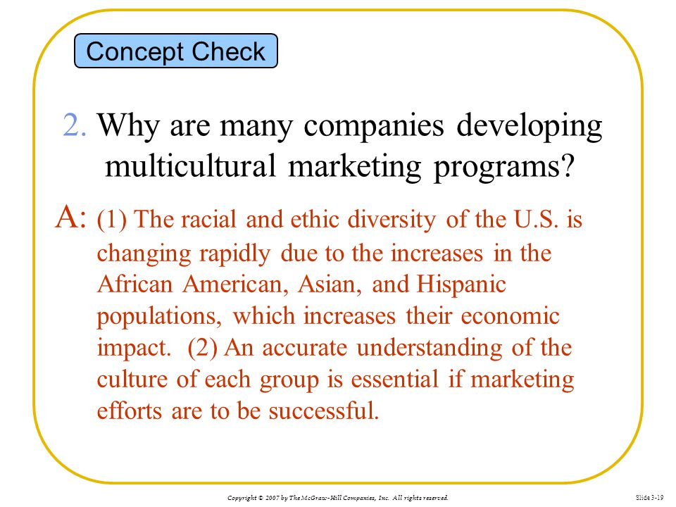 2. Why are many companies developing multicultural marketing programs