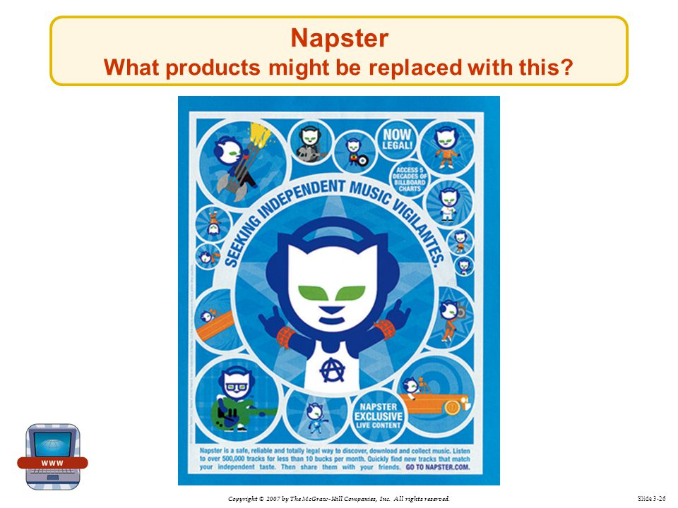 Napster What products might be replaced with this