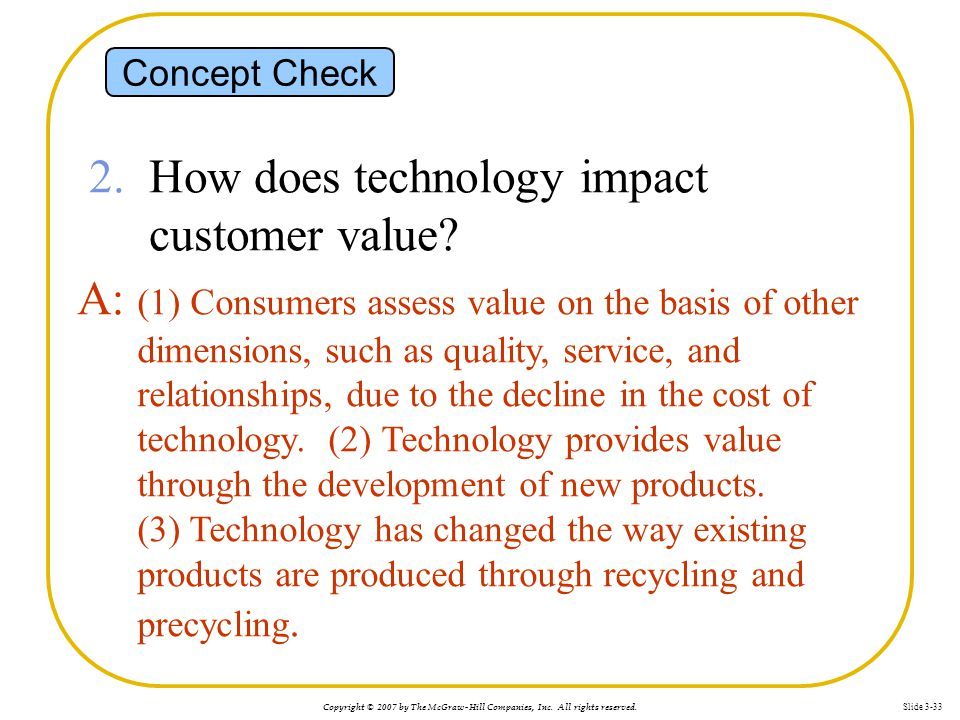 2. How does technology impact customer value