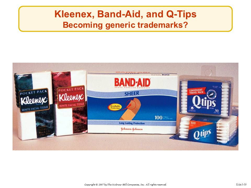 Kleenex, Band-Aid, and Q-Tips Becoming generic trademarks