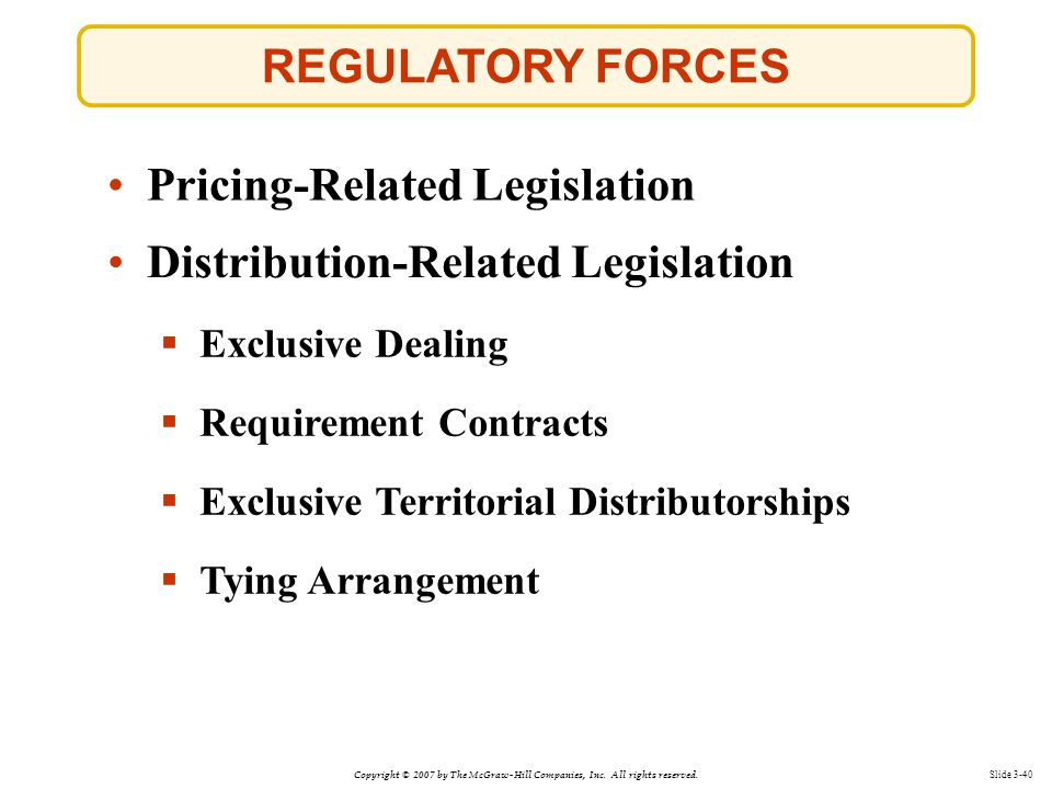 Pricing-Related Legislation
