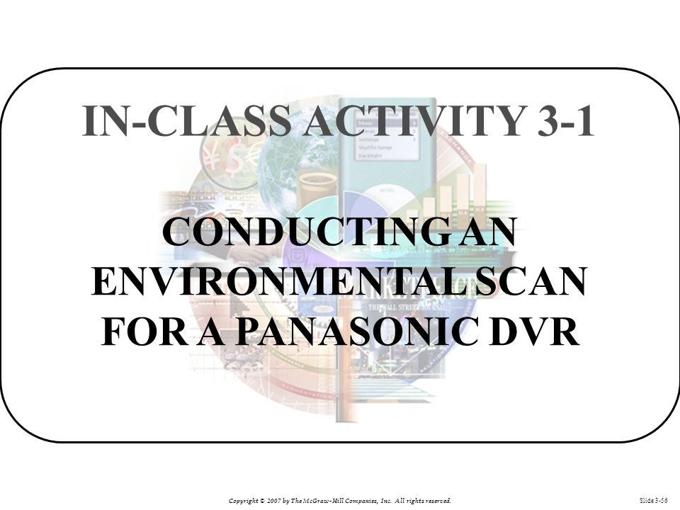 CONDUCTING AN ENVIRONMENTAL SCAN FOR A PANASONIC DVR