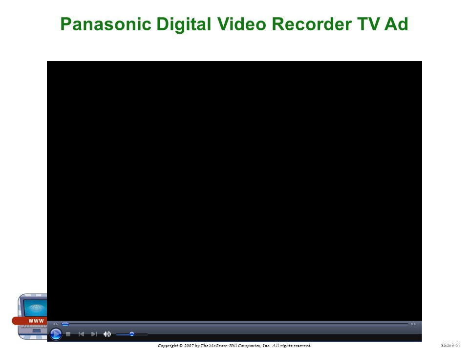 Panasonic Digital Video Recorder TV Ad