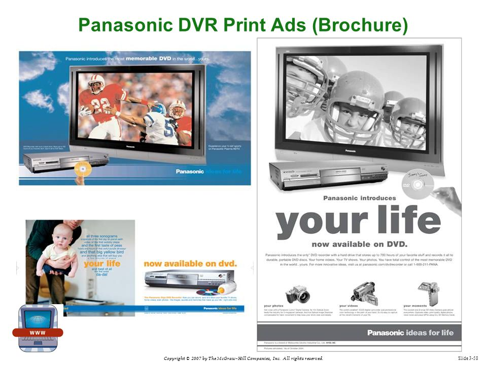 Panasonic DVR Print Ads (Brochure)
