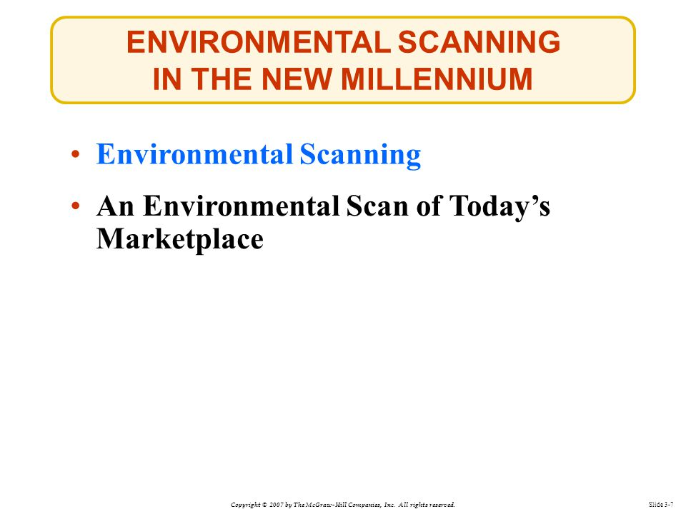 ENVIRONMENTAL SCANNING IN THE NEW MILLENNIUM