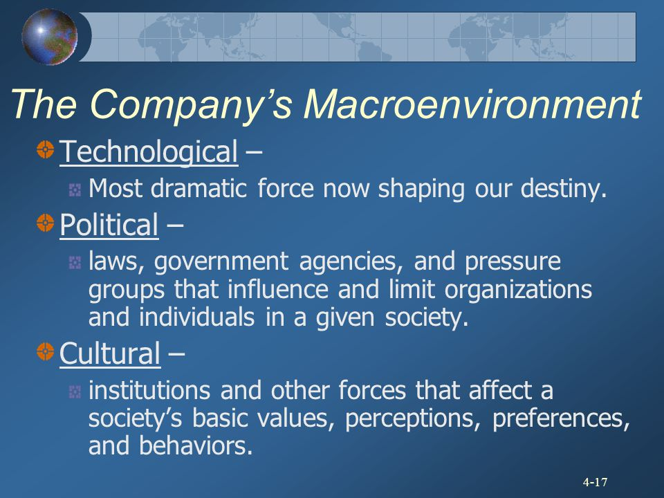 The Company's Macroenvironment