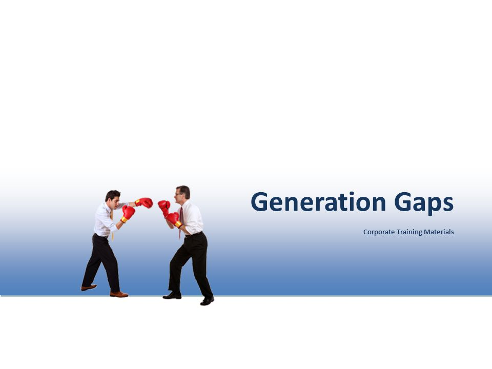 Generation Gaps Corporate Training Materials