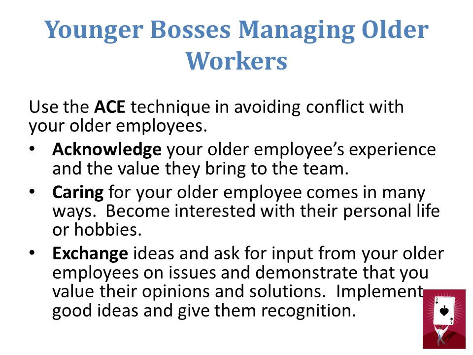 Younger Bosses Managing Older Workers