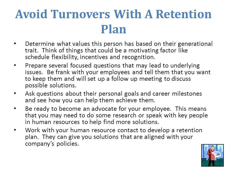 Avoid Turnovers With A Retention Plan