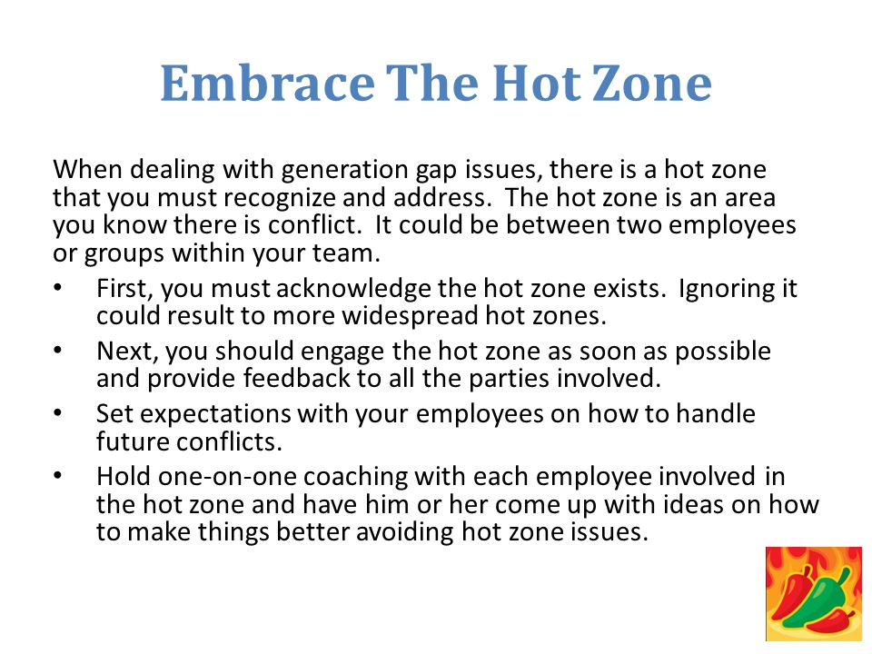 Embrace The Hot Zone