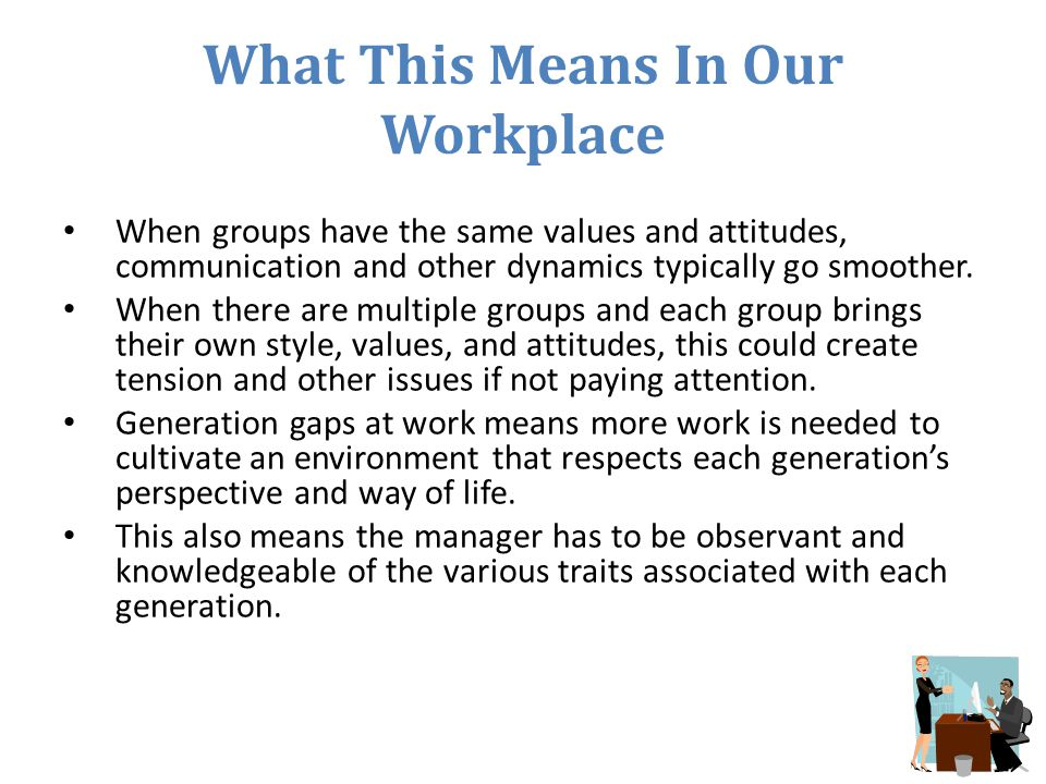 What This Means In Our Workplace