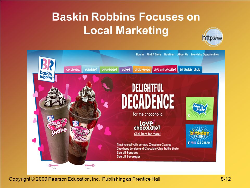 Baskin Robbins Focuses on Local Marketing
